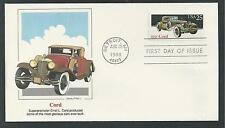 # 2381-2385 CLASSIC CARS: CORD, DUESENBERG.... 1988 FLEETWOOD First Day Cover