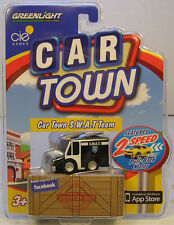 BLACK & WHITE S.W.A.T. VAN  CAR TOWN SERIES ISSUE #2 GREENLIGHT ACTION TOY