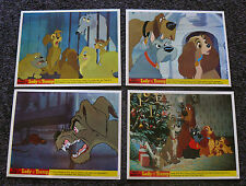 LADY AND THE TRAMP BRITISH LOBBY CARD SET PEG JOCK 1960S WALT DISNEY