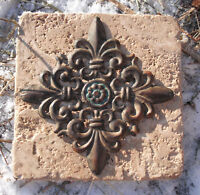 Fleur de lis travertine tile mold Style SEE more tiles molds