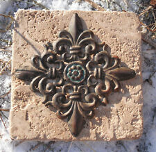 plastic fleur de lis distressed travertine tile mold Style SEE more tiles molds