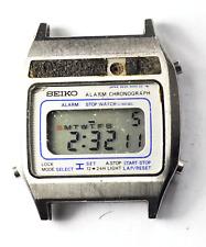 Vintage Seiko A639-5000 Digital LCD Wristwatch Chronograph Alarm 33mm Quartz