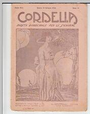 CORDELIA - RIVISTA DELLE SIGNORINE - CASA ED. CAPPELLI - FIRENZE- 15 Giugno 1922