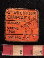 Vtg 1968 NCHA ARMADA SPRING Michigan Campout Patch CAMEL RIDER 83V8