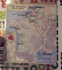 Set de Table Affiche Poster France Voies Navigable Bordeaux Sète Paris Dieppe