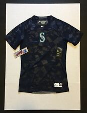 Nike Pro Hypercool Seattle Mariners Fitted S/S Shirt 875819 Mens Size L