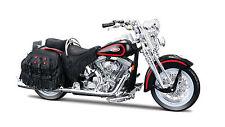 Harley Davidson 1998 flsts Heritage Springer 1:18 negro rojo motocicleta la cast