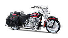 Harley Davidson 1998 FLSTS Heritage Springer 1:18 schwarz rot Motorrad die cast