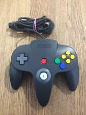 Official Nintendo BLACK Controller for the Nintendo 64 N64  Console Tested