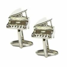 Grand Piano with Lid Up Music Cufflinks