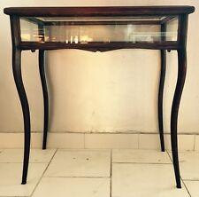 Tavolo Tavolino table bacheca salotto arte povera legno noce vetro vintage