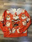 SSLR Mens Collection Ugly Christmas Sweater Shirt Santa Claus Sz XL X-Large