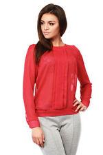 Langarm Damenblusen, - tops & -shirts ohne Kragen in Größe XL