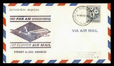 Dr Who 1959 Australia First Flight Pan Am Jet Sydney To Los Angeles Ca C216585