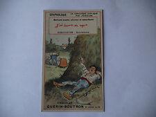 CHROMO PUBLICITAIRE CHOCOLAT GUERIN-BOUTRON N°190 GRAPHOLOGIE