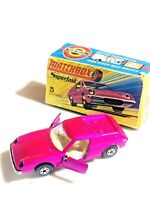Matchbox Superfast # 5 Lotus Europa Pink WIDE Wheels MIB RARE