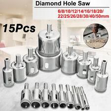 15 pcs Diamond tool drill bit hole saw set for glass ceramic marble 6-50mm Ying