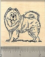 Chow Chow Dog rubber stamp H9302 Wood Mounted