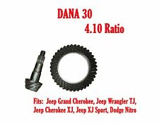 RING & PINION GEAR SET DANA 30 4.10 RATIO, JEEP 96-01 XJ 97-06 TJ D30-410TJ