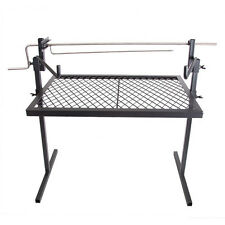 Bbq Rotisserie Chicken Meat Outdoor Camping Fire Cooking Portable Grate Grill