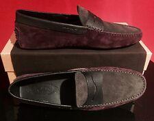 Brand New Men's Tod's Driving Shoes / Black/Bordeaux / UK 9.5 / US 10.5 / $425