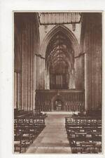 Choir Screen & Organ York Minster Vintage RP Postcard 581a