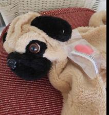 "Build-A-Bear UNSTUFFED WRINKLY PUG Puppy Dog Sits 12"" Plush Animal"