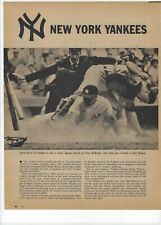 1960 New York Yankees Major League Baseball Magazine 2 Full Pages Print Ad Berra