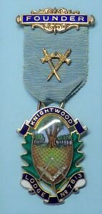 Masonic Silver Founder Jewel Knightwood Lodge No 7813