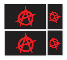 4 X  ANARCHIST FLAGS VINYL CAR VAN IPAD LAPTOP STICKER