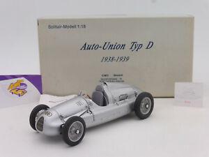 "CMC M-027 # Auto Union Typ D Baujahr 1938-39 "" silbermetallic "" 1:18 ab 1,- Euro"