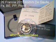 2 euro 2010 proof BE PP Fs FRANCIA france De Gaulle Frankreich Франция França