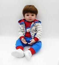 """22"""" 55cm Realistic Reborn Baby Boy Doll Vinyl Silicone Dolls Lifelike Toddler"""