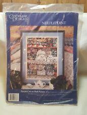 Vintage 1990s PERSIAN CATS on Shelf Needlepoint Kit Candamar Designs 30778 New