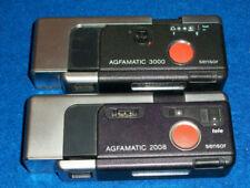 untested LOT 2 APPAREIL AGFA agfamatic 3000 2008 C41 TELE-POCKET camera VINTAGE