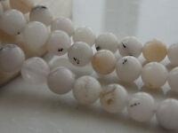 AAA 8mm White Black Agate Onyx Round Gemstone Loose Beads 15'' T-30