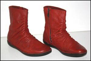 LOINTS OF HOLLAND Bottines Boots Cuir Plissé Rouge Hermès T 40 TTBE