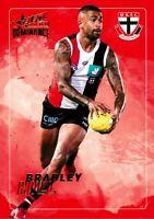 ✺New✺ 2020 ST KILDA SAINTS AFL Card BRADLEY HILL Dominance