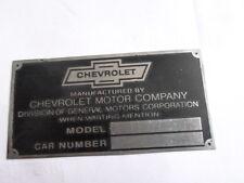 Typenschild Schild Chevy chevrolet oldtimer S22
