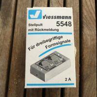 Viessmann 5548 Tasten-Stellpult, rückmeldefähig 3-begriffig für Spur N, T, H0,O