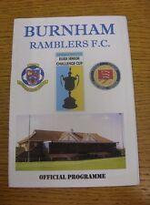 01/12/2007 Burnham Ramblers v Redbridge [Essex Senior Cup] .  We are pleased to