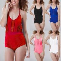 Lady  Push-up Padded Swimsuit Bandage Bikini Backless Bathing Swimwear