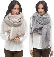 Foxbury Ladies Herringbone Weave Blanket Scarf One Size