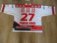"Kölner Haie ""KEC"" Russell Athletic Eishockey Trikot 99/00 + Nr.27 Forslund Gr.XL"