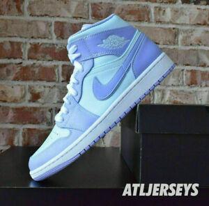 Nike Air Jordan 1 Mid Purple Pulse Aqua 554724-500