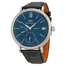 IWC Portofino Blue Dial Black Leather Mens Watch IW510106