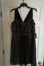 Adriana Papell Black Lace Sweetheart  Fit & Flare Size 14 MSRP $140   NWT