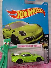 PORSCHE 911 GT3 RS #117✰sublime Green;black✰NIGHTBURNERZ✰2017 Hot Wheels case F