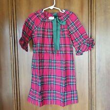 NEW Girl's Size 5 FUNTASIA TOO Tartan Plaid Dress - Red, Green Bow