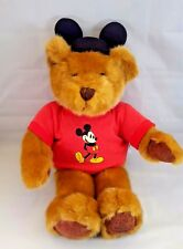Disney TShirt Bear Plush Mickey Ears Store Exclusive 28 Inch Standing New Tags